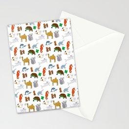 Animal cracker frenzy Stationery Cards