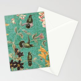 Turquoise Hummingbird Stationery Cards