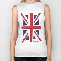 union jack Biker Tanks featuring Union Jack Flag by Tonio YUMUI
