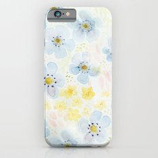 Blue Fields. Fictional Flowers. iPhone 6s Slim Case