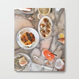 French Lunch for Two Metal Print