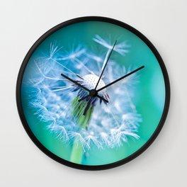 white dandelion Wall Clock