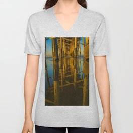 Mirror Under the Pier Unisex V-Neck