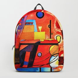 Wassily Kandinsky - Heavy Red - Abstract Art Backpack
