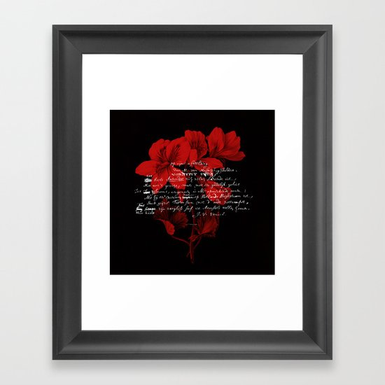 Dutch Flower Framed Art Print