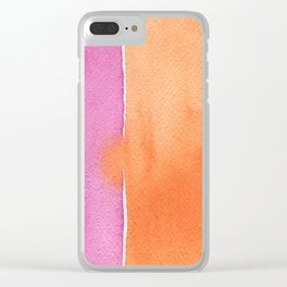 Summer in pink and orange Clear iPhone Case