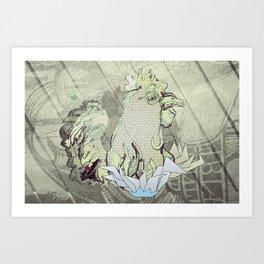 El Gallo Ralph Art Print