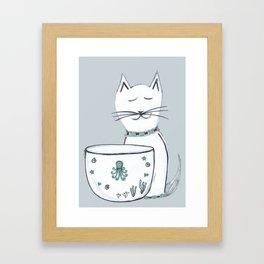 The Cat & The Octopus Framed Art Print