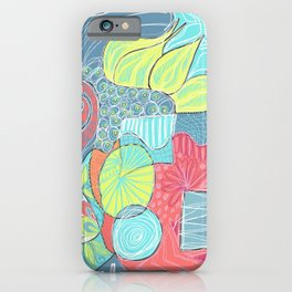Retro Doodle design iPhone Case