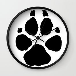 Brushy Paw Wall Clock