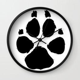 Brushy Paw Wall Clock