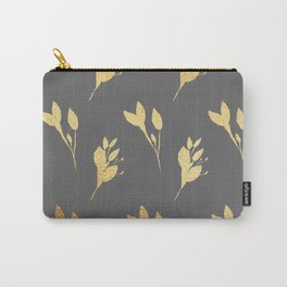 Winter Leaf Pattern (Gold&Granite) Carry-All Pouch