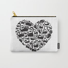 Cute heart made from cats Carry-All Pouch