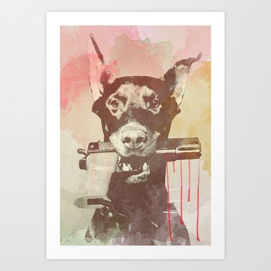 killer dog Art Print