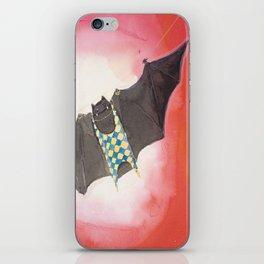 Acrobat Black Bat in Diamond Circus Watercolor iPhone Skin