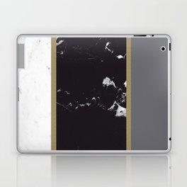 Marble Mix Stripes #1 #black #white #gray #gold #decor #art #society6 Laptop & iPad Skin