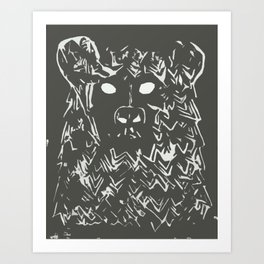 BEAR WITH IT - Single Print Art Print