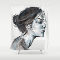 lucy Shower Curtains featuring Lucy by Chloe Gibb