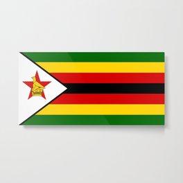 Zimbabwe Flag Metal Print