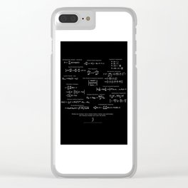 High-Math Inspiration 01 - inverted color Clear iPhone Case