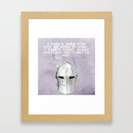 A Knight In Dented Armor Framed Art Print