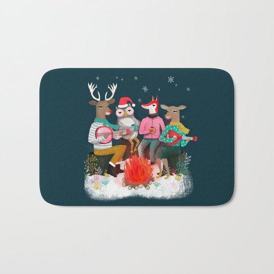 Fireside Christmas by Andrea Lauren  Bath Mat