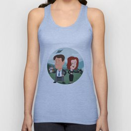 Mulder and Scully Unisex Tank Top