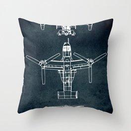 BELL BOEING V-22 OSPREY -1989 Throw Pillow