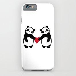 Panda Love  panda bear in love iPhone Case
