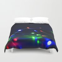 the lights Duvet Covers featuring Lights by tea and tiffin