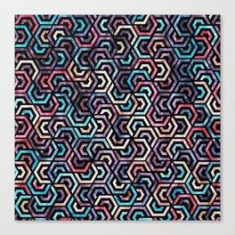 Seamless Colorful Geometric Pattern XXII Canvas Print