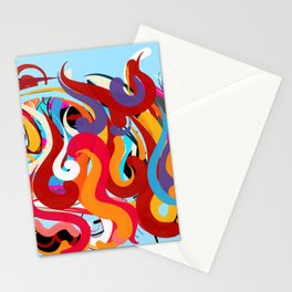 Blue Abstraction Composition Stationery Cards