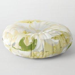 Cream Peonies | Nadia Bonello  Floor Pillow