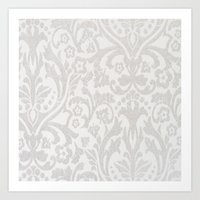 victorian Art Prints featuring Victorian by Pink Berry Patterns