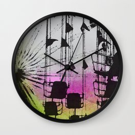Love Roller Coasters Wall Clock