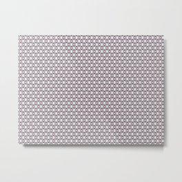 Pattern diamond flowers Metal Print