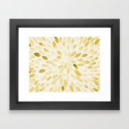 Watercolor brush strokes - yellow Framed Art Print