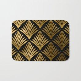 Luxurious Black and Gold Art Deco Elegant Pattern Bath Mat