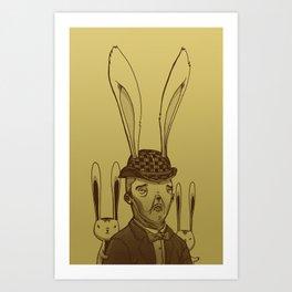 The Rabbit Man Art Print