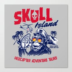 Skull Island Helicopter Adventure Tours Canvas Print