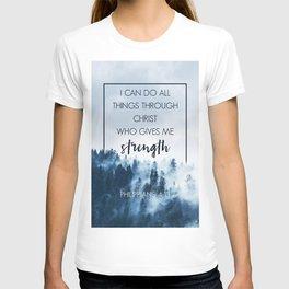 Forest Philippians 4:13 T-shirt