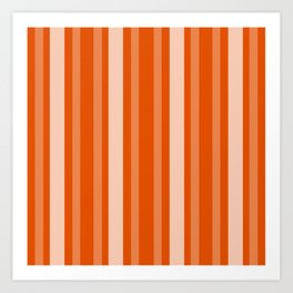 Persimmon Victorian Lady Stripe Art Print