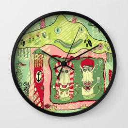 Sea Home of the Hipster Mer-Couple Wall Clock