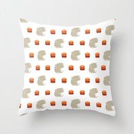 Sharkbark's Burgers - Pattern Throw Pillow