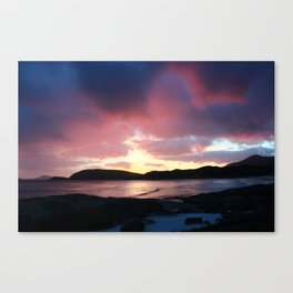 Purple Mountains in the Clouds Canvas Print