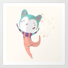 Dance Dreams (Cream) Art Print
