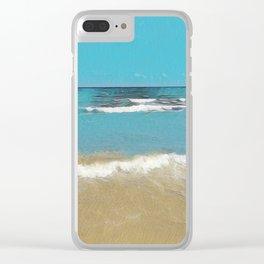 Palm Beach Waves Clear iPhone Case