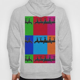 Industrial inspiration for a colorful tap design Hoody
