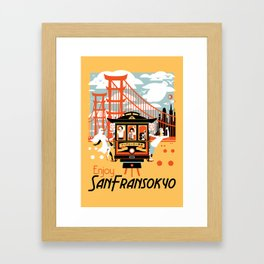 Enjoy San Fransokyo Framed Art Print