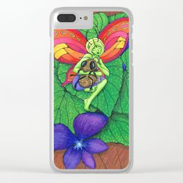 Fairy and Bee Clear iPhone Case